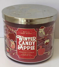 Bath & Body Works Winter Candy Apple 3 Wick Scented Candle  14.5 oz