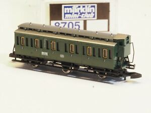 8705 Marklin Z-Scale OLD ERA COMPARTMENT DB Passenger Car with brakeman cab NIB