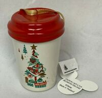Disney World 2019 Starbucks Cup Christmas Happy Holiday Red Tree Ornament NWT