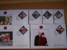 Îles Cook, 6 différents 2010 Lifetime of Service, royauté, fdc covers, excellent.