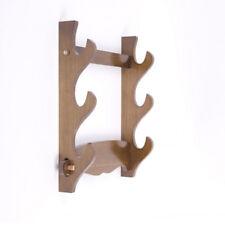 Real Wood Wall Mount Samurai Sword Katana Wakizashi Holder Bracket Stand Hanger