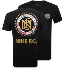 2018 Nike FC NIC Tee SS Shirt Russia World Cup Flag Black GOLD MultiColor Men XL
