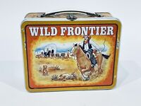 Vintage Original 1960s Wild Frontier Lunch Box Cowboys Wagon Western by Ohio Art