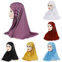 Headwear Full Cover Headwrap Shawl Scarf Muslim Amira Cap One Piece Flower Hijab