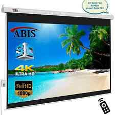 "84"" Electric Motorised HD Projector Screen 16:9 Native Screen With Remote"