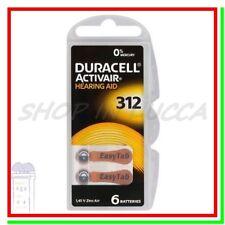 6 DURACELL 312 PR41 ACTIVAIR DA312 Batterie Protesi Pile per Apparecchi Acustici