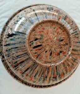 """Texas Ware #118  Confetti Spatter ware Bowl - 9.75"""""""