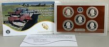 2016 US Mint America the Beautiful Quarters Proof ATB 5 Coin Set with Box & COA