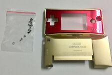 Full Housing Shell Case Cover for Nintendo Gameboy Micro GBM Golden