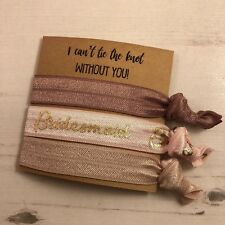 I can't tie the knot without you Hair Ties Bracelet wristband Bridesmaid Reveal