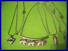 NEU 3 x tolle Halsketten Ketten mit Strass Anhänger versch. Designs  (D102)