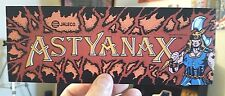 Astyanax arcade marquee sticker. 3 x 9.5. (Buy any 3 stickers, Get One Free!)