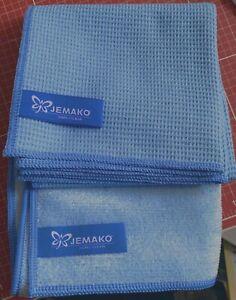 JEMAKO Fenster Set, Profituch Plus S + Trockentuch 45x60 cm blau