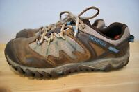 Merrell Womens Hiking Shoes Unifly All Out Blaze Brown Blue Size 9.5