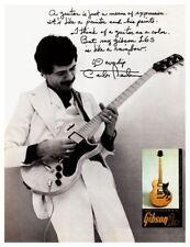 Carlos Santana  **LARGE POSTER**  Gibson L6s Guitar Promo ad L6 Les Paul SANTANA