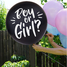 """OH BABY! Giant 36"""" Gender Reveal Boy or Girl Confetti Balloon Kit Party Supply"""