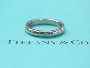 Tiffany & Co Platinum Elsa Peretti Diamond Band Ring Size 4