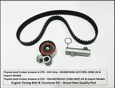 Land Cruiser 4.2TD Amazon HDJ80-24V Engine Timing Belt & Tensioner Kit 07/1995+