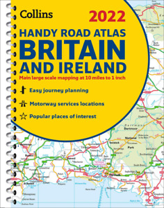 2022 Collins Handy Road Atlas Britain A5 Spiral Easy To Use Pocket Maps Lie Flat