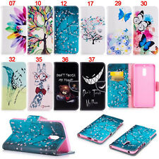 Butterfly Teeth Wallet Leather Skin Flip Case Cover For Nokia 2 3 5 6 2018 3310