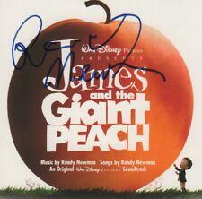 """Randy Newman Composer autógrafo signed CD cuadernillo """"James and the Giant Peach"""""""
