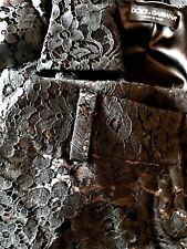 DOLCE & GABBANA FLORAL BLACK LACE Suit JACKET & TROUSERS size 42 IT