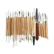 22pcs/set Stainless Steel and Wooden Handle Clay Pottery Sculpture Tool