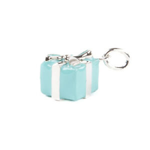TIFFANY & CO. Women's Sterling Silver Blue Box Charm NEW