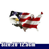 Bald Eagle USA American Flag Sticker Car Auto Truck Window Bumper Decor Decal