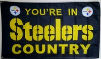 Pittsburgh Steelers Banner 3x5 ft Flag Man Cave Decor Steelers Country NFL