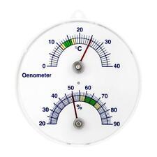 Lantelme 3204 Cave à vin thermomètre et hygromètre analogique bimétallique à...