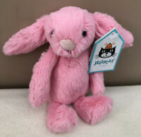 NEW Jellycat Baby Sorbet Bashful Bunny Soft Toy Tiny Comforter Pink Soother BNWT
