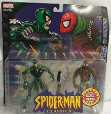 MARVEL Toy Biz Hombre Araña clásicos 2 Pack Spiderman Vs Scorpion menta en tarjeta