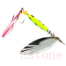 1pc Spoon Metal Fishing Lures Set Spinner Baits CrankBait Bass Tackle Hooks Hot