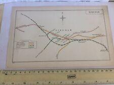 Lincoln greetwell Branston skellingthorpe washingborough Mappa ferroviaria 1908