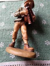 Krippen Figur Dudelsack Spieler bemalt Holz  15 cm  Zirbelholz unbeschädigt