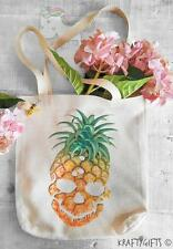 Fun Retro Pineapple Skull Fruit Shopping Grocery Reusable Tote Hand Bag TB27