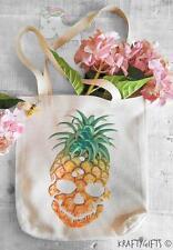 Fun Retro Pineapple Skull Fruit Shopping Grocery Reusable Tote Hand Bag TB27