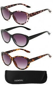 Womens Ladies Tinted Reading Sunglasses with Case Black Brown Sun Reader UV400