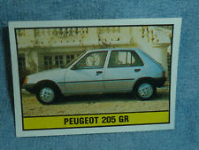 Sammelsticker Nr. 174 Bild Sticker Auto 2000 Peugeot 205 GR Panini 1985