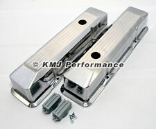 58-86 SBC Chevy 350 400 Polished Aluminum Ball Mill Recessed Tall Valve Covers