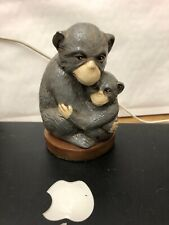 Vintage Monkey Holding It's Baby Ceramic Painted Ornament