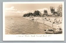 Children Swim—Crescent Beach BC Photo RPPC Vintage SURREY British Columbia 1950s