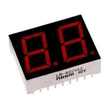 1 x ROHM 2 Digit 7-Segment LED Display LB-602VA2, CA Red 16 mcd RH DP 14.3mm