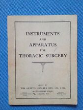 Instruments And Apparatus For Thoracic Surgery-Genito Urinary MFG Co. Book SB