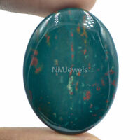 Cts. 50.35 Natural Designer Bloodstone Cabochon Oval Cab  Loose Gemstone