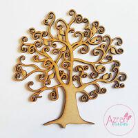 Madera árbol genealógico Decoupage en blanco Manualidades Navideñas Arte MDF