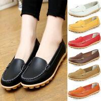 Fashion Womens Ladies Flat Slip On Loafer Moccasin Casual Driving Single Shoes