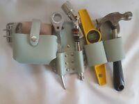 Heavy Duty Scaffolding 100%  Leather Tool Belt with Hammer Holder