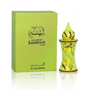 Lamsa Gold Elegant Floral Woody Musky Perfume oil/Attar by Al Haramain 12ml